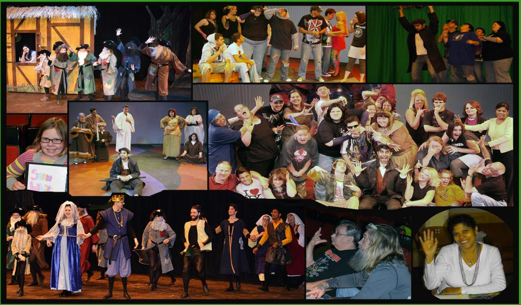 Stills of both the Deaf Snow White and Adapted Everyman plays.